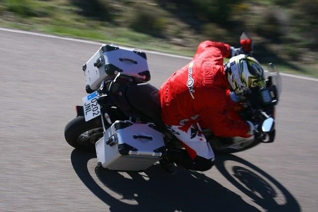 Ducati Multistrada Enduro desde arriba maletas