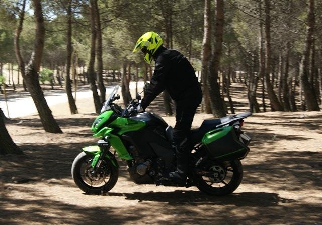 Kawasaki Versys 1000 en el bosque de perfil