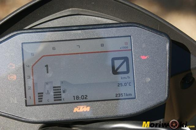 KTM 690 Duke prueba a fondo display