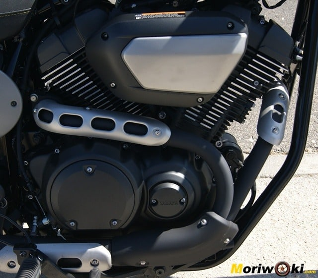 Yamaha XV 950 60 Aniversario motor escape