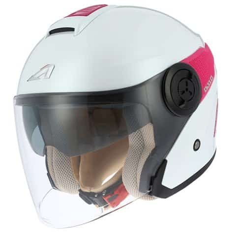 Casco-Astone-DJ10-2G blanco rosa