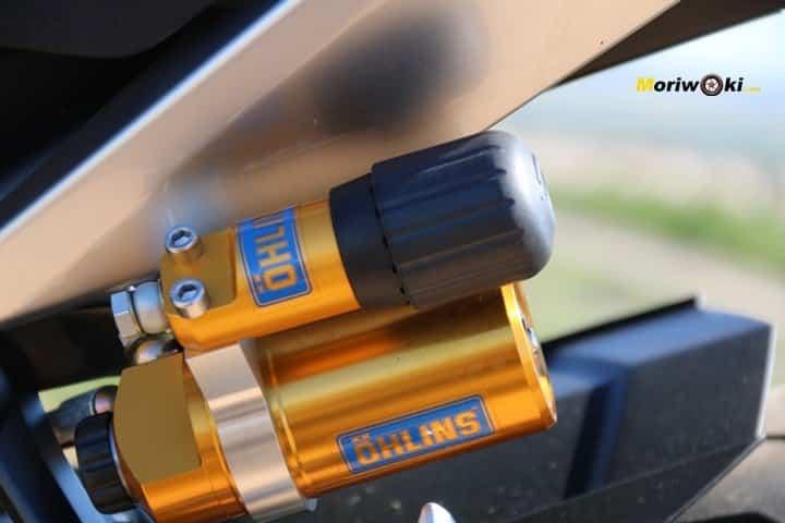 Prueba Yamaha MT-09 SP amortiguador
