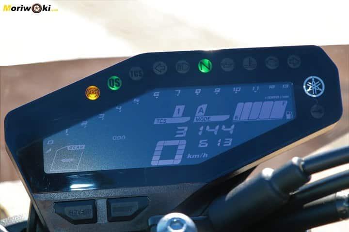 Prueba Yamaha MT-09 SP display