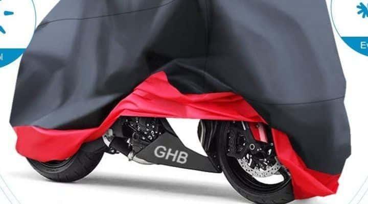 Funda para moto negro y rojo