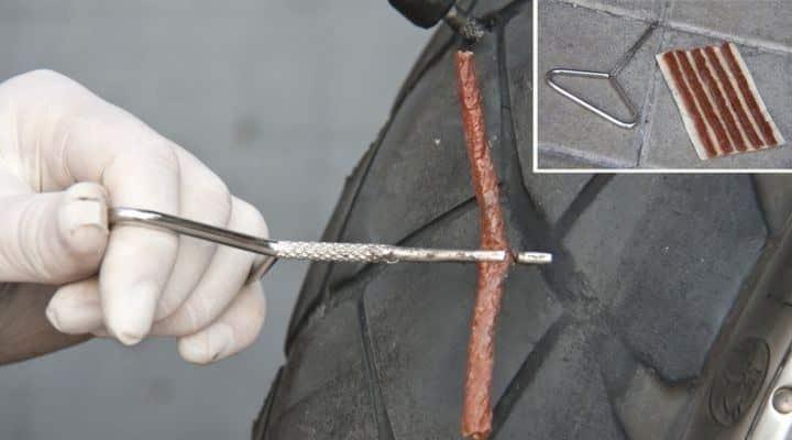 mecha repara pinchazo moto