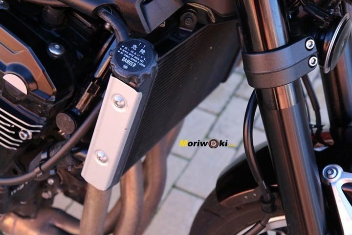 Detalle del radiador que monta la Z900RS