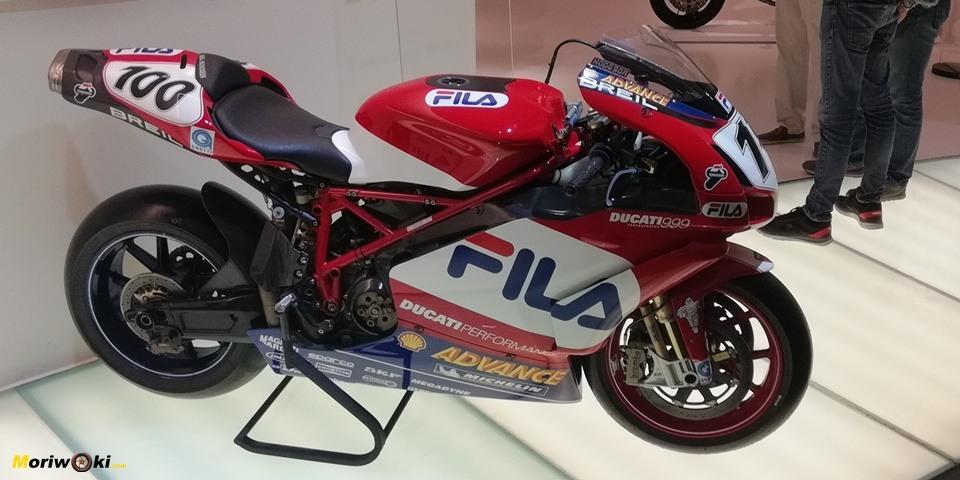 Ducati 999 de Hodgson en el museo