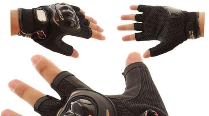 guantes sin dedos de moto