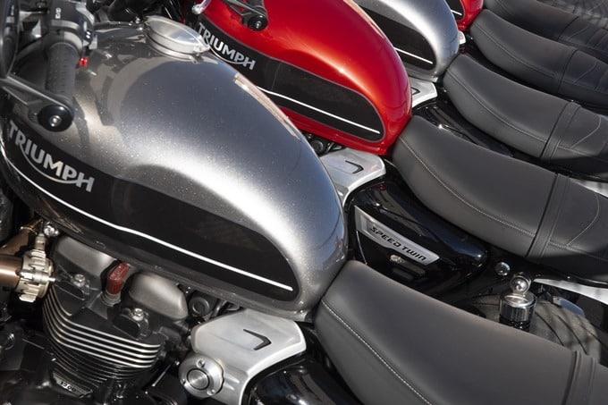 Depósitos de la Triumph Speed Twin 1200