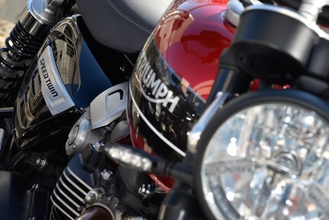 Faro asiento de la Triumph Speed Twin 1200
