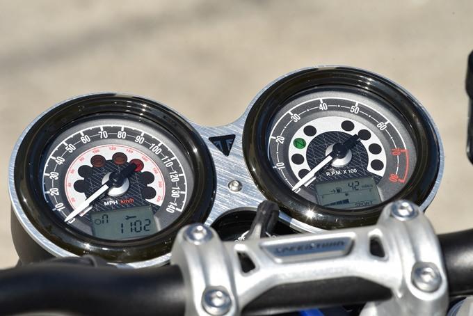 Relojes de la Triumph Speed Twin 1200