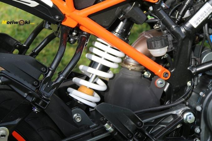 Amortiguador WP de la KTM 125 Duke.