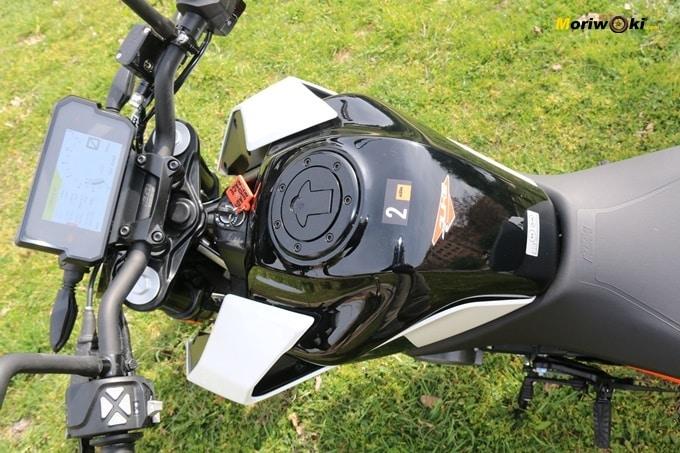 Ergonomía de la KTM 125 Duke.