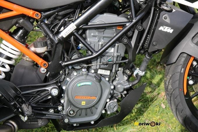 Monocilíndrico 4 válvulas de la KTM 125 Duke.