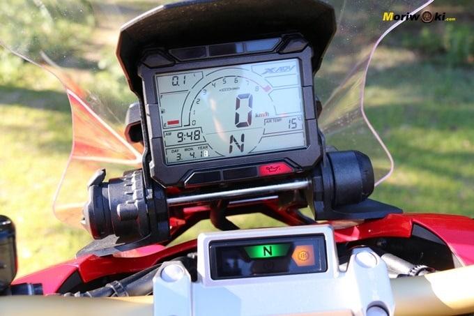 El display del Honda X-AVD.
