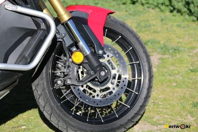Defensas y horquilla invertida del Honda X-ADV