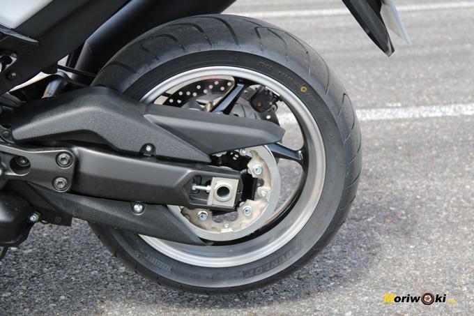 Transmisión de la Yamaha Tmax 530 DX.