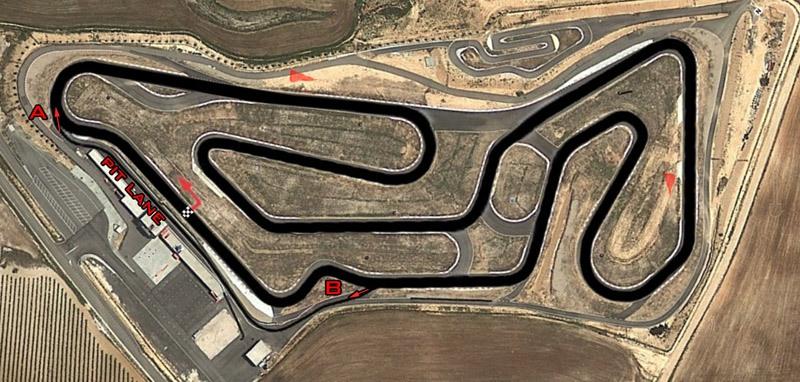 Circuitos Pit Bikes Zona centro. Plano de Kotarr.
