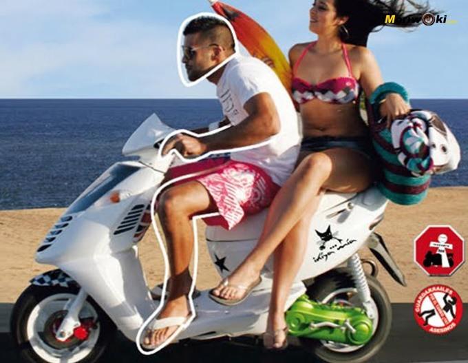 Ilustración sobre la necesidad de equiparse en moto también en verano.