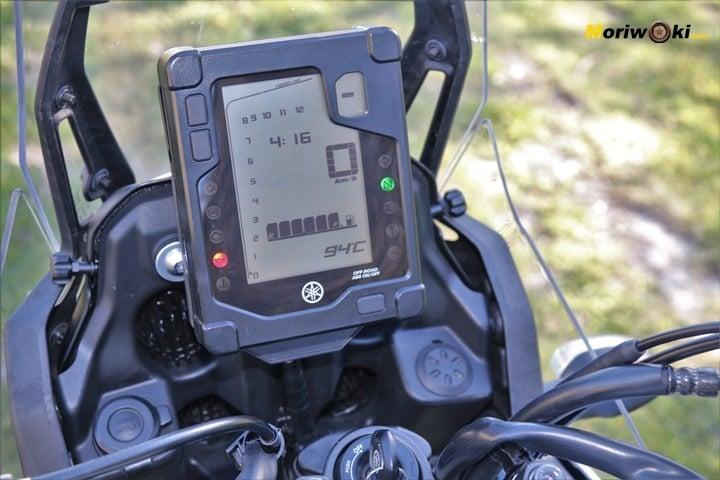 Detalle del display en la Prueba Yamaha Tenere 700