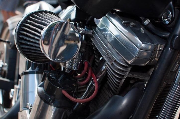 Filtro de aire de moto a base de papel carton.