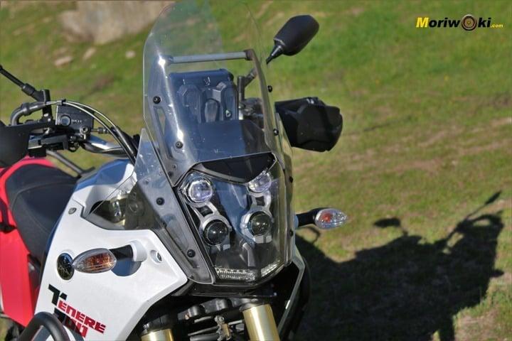 Prueba Yamaha Tenere 700 . Frontal.