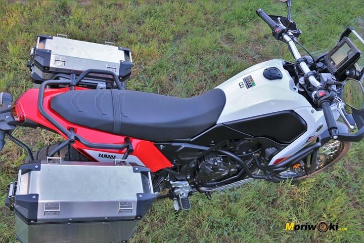 Vsita de la posición en la Preuba Yamaha Tenere 700