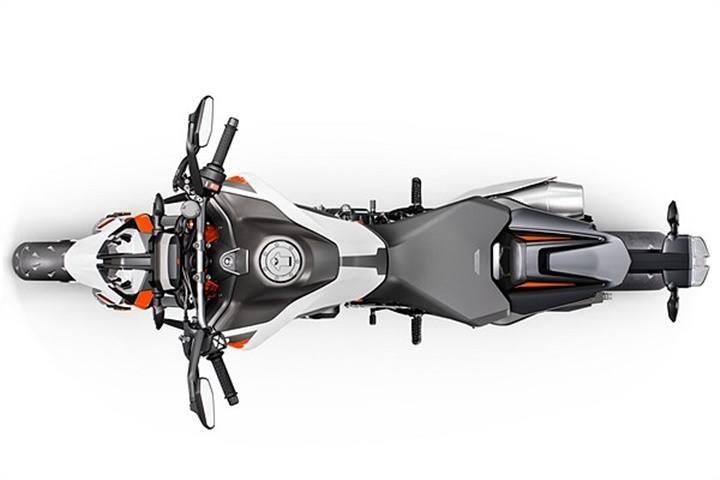 Perspectiva cenital de la KTM 890 Duke R