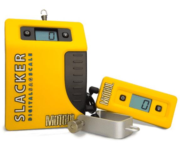 Slacker Digital Sag Scale para medir el SAG de una moto.