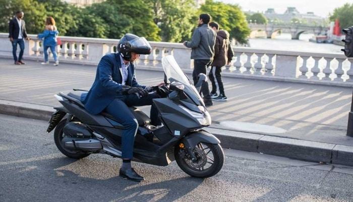 moto en calle