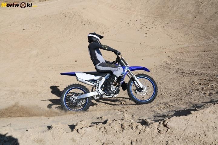 Prueba Yamaha YZF250 apoyo.