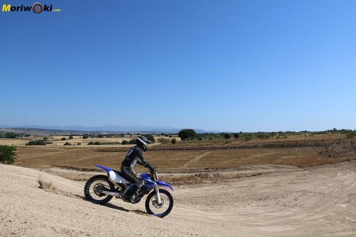 Prueba Yamaha YZF250 suspensiones