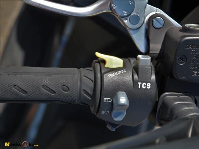 El control de traccion del Kymco Super Dink 350 TCS