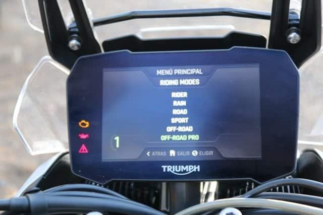 Pueba de la Triumph Tiger 900 Rally Pro modos conduccion