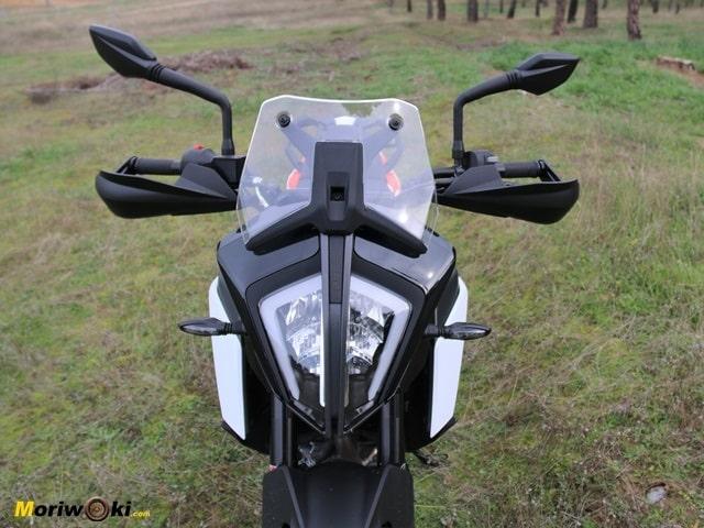 Frontal de la KTM 390 Adventure