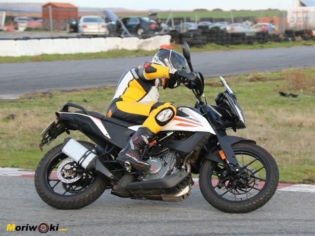 La posición de la KTM 390 Adventure