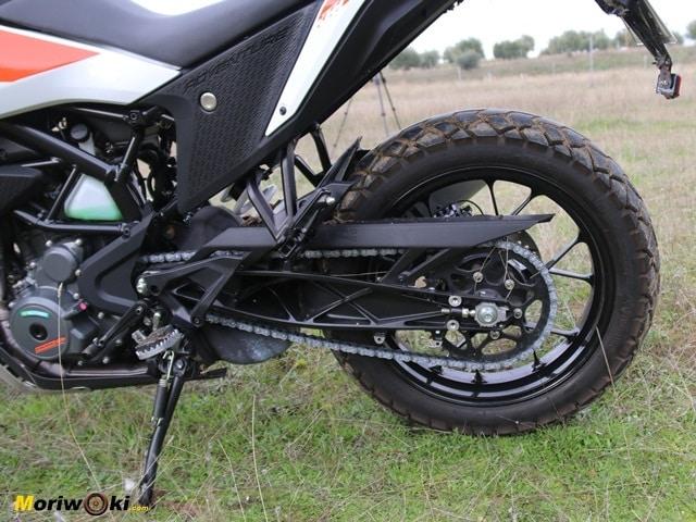 Tracción de la KTM Adventure 390