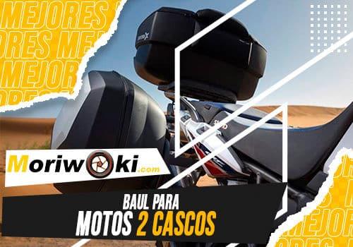 Mejores baul para motos 2 cascos