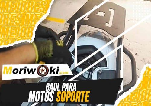 Mejores baul para motos soporte