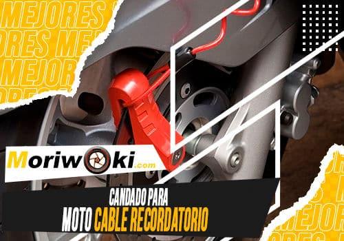 Mejores candado para moto cable recordatorio