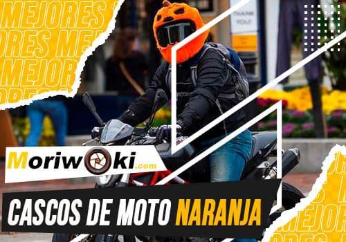 Mejores cascos de moto naranja