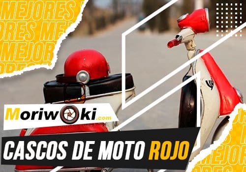 Mejores cascos de moto rojo