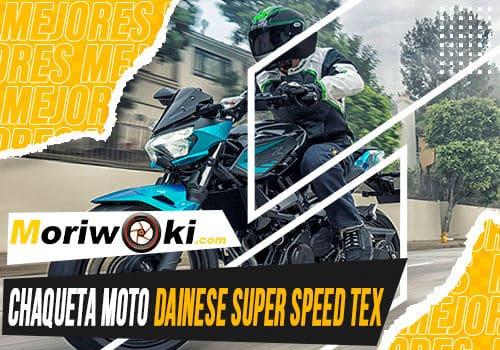 Mejores chaqueta moto dainese super speed tex